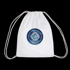 blue fish circle - bag
